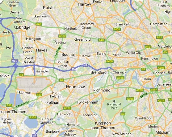 South West London Map.Scrap Vehicle Collection Removal West London South West London
